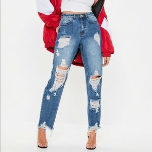 Riot rigid high rise jeans, Missguided